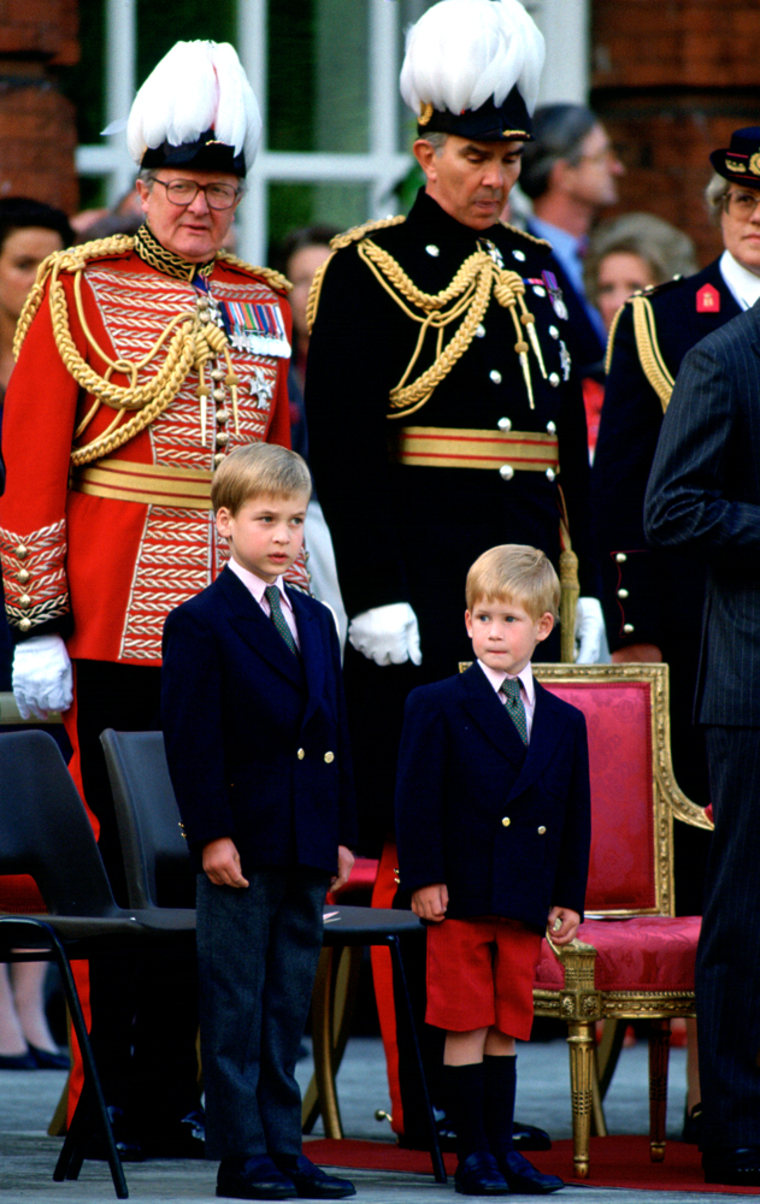 William And Harry First Parade