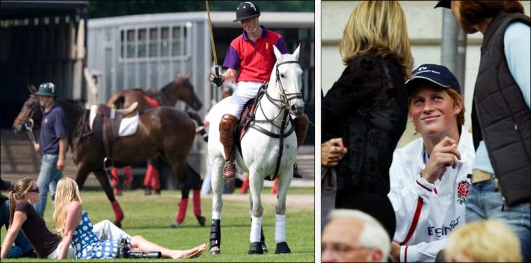 Prince William Plays Polo - Cirencester