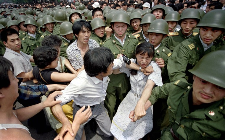 Image result for chinese troops crush a pro-democracy movement in tiananmen square