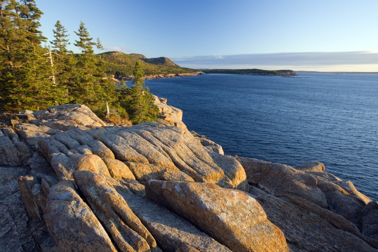 Coastline, Acadia National Park, Maine, New England, USA