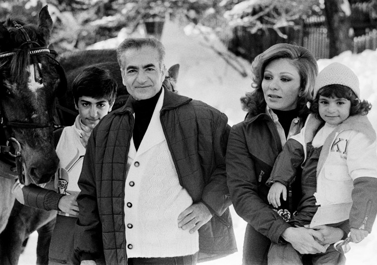 Shah of Iran, Mohammed Reza Shah Pahlavi and Family on Vacation