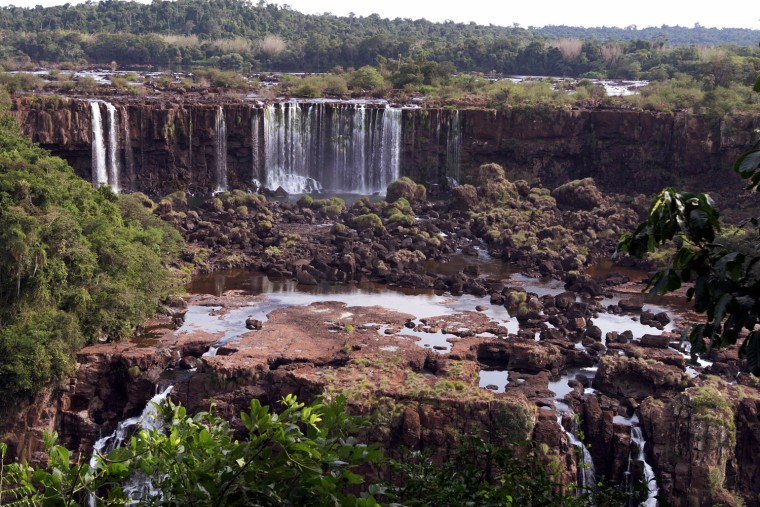 Picture of a waterfall of the Iguazu fal