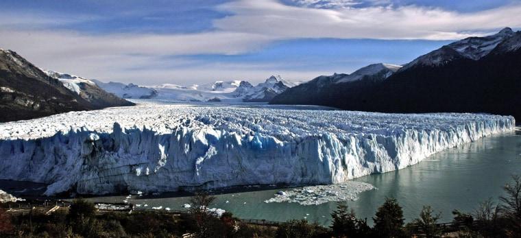 View of the glacier Perito Moreno taken