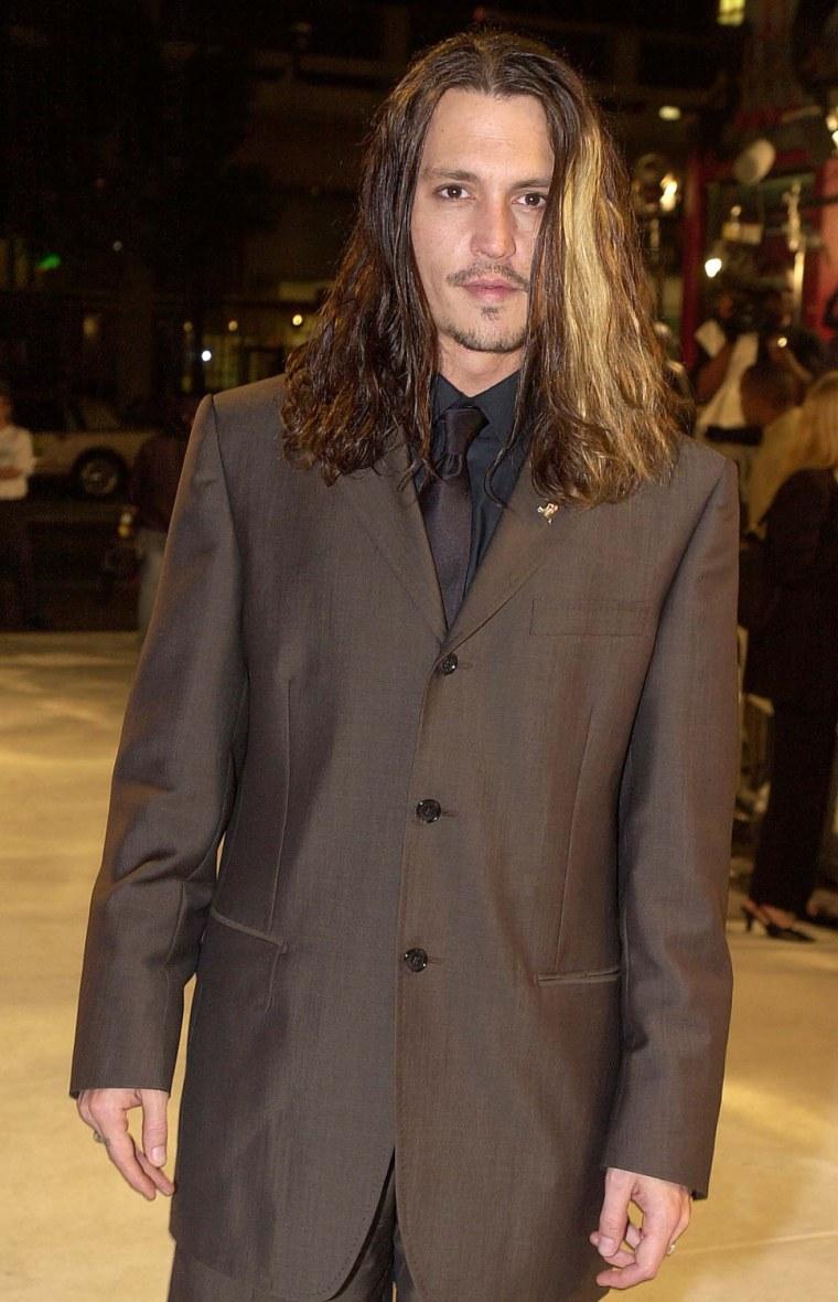 US actor Johnny Depp arrives at the premiere of hi