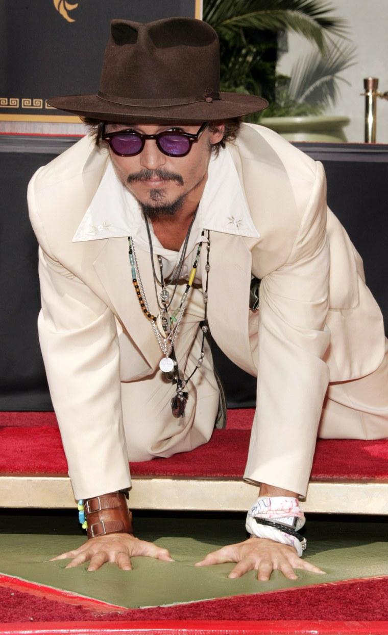 Johnny Depp Hand and Footprint Ceremony