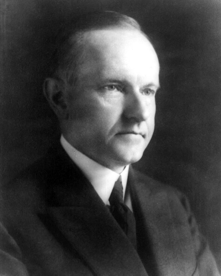 Calvin Coolidge, 30th President of the United States. Picture copyright Dec. 4, 1923.