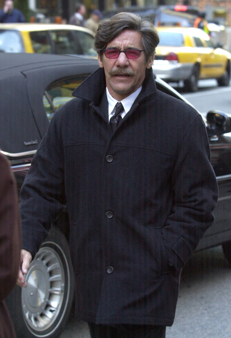 "**FILE**Televison  personality Geraldo Rivera walks on a New York street on Dec. 9, 2002. The popular blog Gawker.com has launched a new ""Gawker Stalker"" feature that pinpoints the locations of readers' random celebrity sightings on the Internet, using a Google map of Manhattan. A reader's impression of Rivera, spotted Monday, March 20, 2006, at Rockefeller Center: ""Shorter than expected (aren't they all), his moustache definitely greased into place and so tan he looked like he just popped out of an Easy Bake Oven."" (AP Photo/Matt Moyer)"