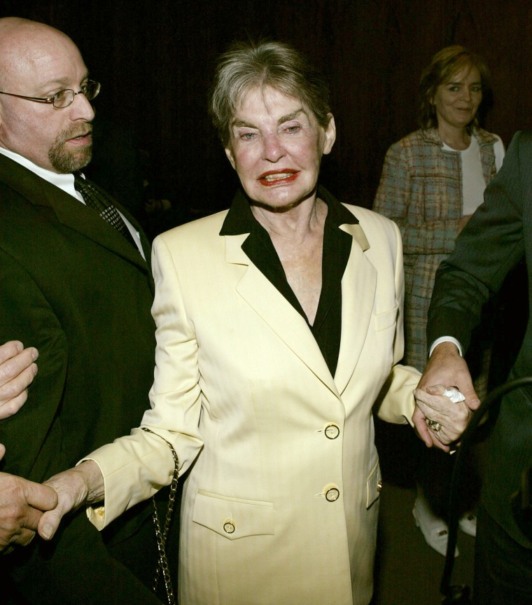 Leona Helmsley Arrives For Dinner At The Four Seasons Restaurant
