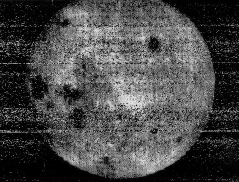 In October 1959, the Soviet Union's Luna 3 spacecraft - the third successfully launched to the moon - made history as the first probe to image the far side of the moon. The photos were fixed and dried on the spacecraft and beamed back to Earth. Though fuzzy by today's standards, the images showed stark differences from the near side, including relatively few dark areas, called lunar maria.