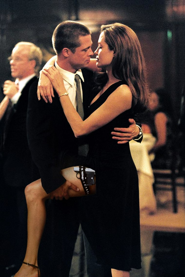 """Mr. and Mrs. Smith"""" - A sexy, action-packed thrill ride about a bored married couple who discover that they are enemy assassins. John and Jane Smith are an ordinary suburban couple with an ordinary, lifeless suburban marriage. But each of them has a secret -- they are actually both legendary assassins working for competing organizations. When the truth comes out, John and Jane end up in each other's cross-hairs."""