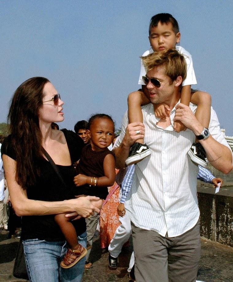 US actors Angelina Jolie (L), daughter Z