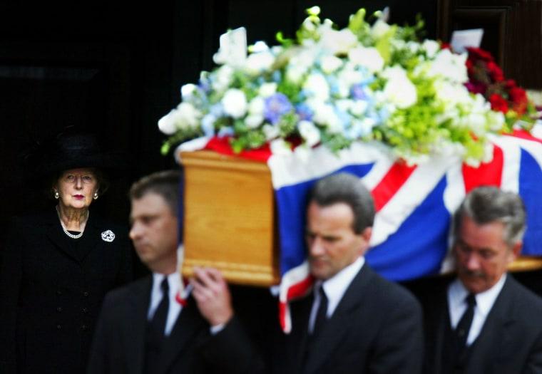 Funeral For Margaret Thatcher's Husband Denis