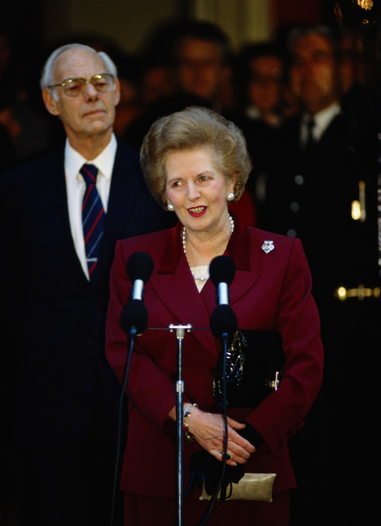 Image: FILE: Baroness Thatcher Dies Aged 87 - Later years and Misc