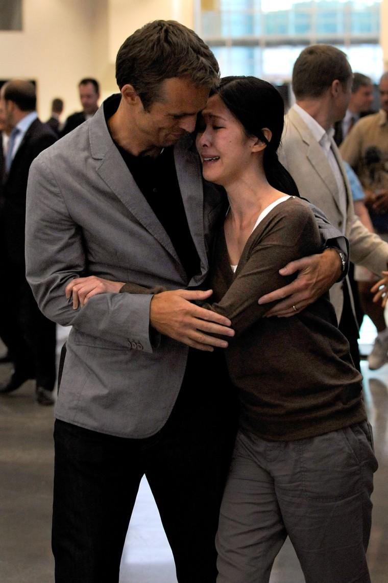 Image: Laura Ling And Euna Lee Arrive Home At Hangar 25
