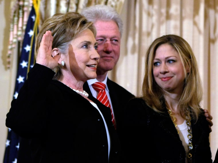 Hillary Clinton Takes Part In Ceremonial Swearing-In As Secretary Of State