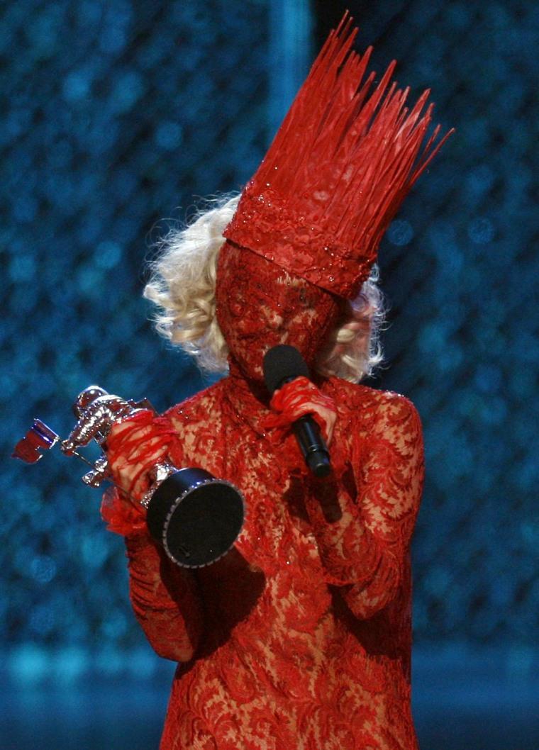 Image: Lady Gaga accepts the award for best new artist at the 2009 MTV Video Music Awards in New York