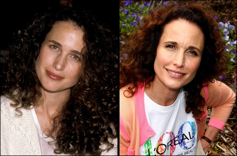 Andie MacDowell, 1992   Andie MacDowell works in the garden at the celebration of 100 years with citywide volunteer day hosted by Loreal at Various Locations on June 4, 2009 in New York City.