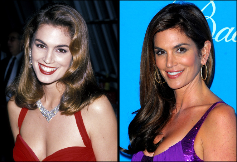 Cindy Crawford, 1990  Cindy Crawford arrives at the UNICEF Ball held at the Beverly Wilshire Hotel on December 10, 2009 in Beverly Hills, California.