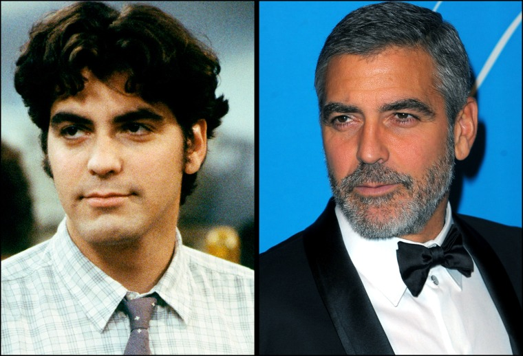 """George Clooney  in ROSEANNE - """"Radio Days"""" - Season One - 11/29/88  Actor George Clooney arrives at the UNICEF Ball held at the Beverly Wilshire Hotel on December 10, 2009 in Beverly Hills, California."""