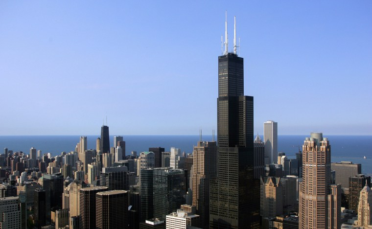 Image: The Chicago skyline featuring the Sears