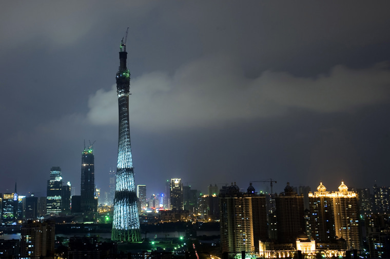 Image: Main Structure Of Guangzhou TV Tower Topped Off