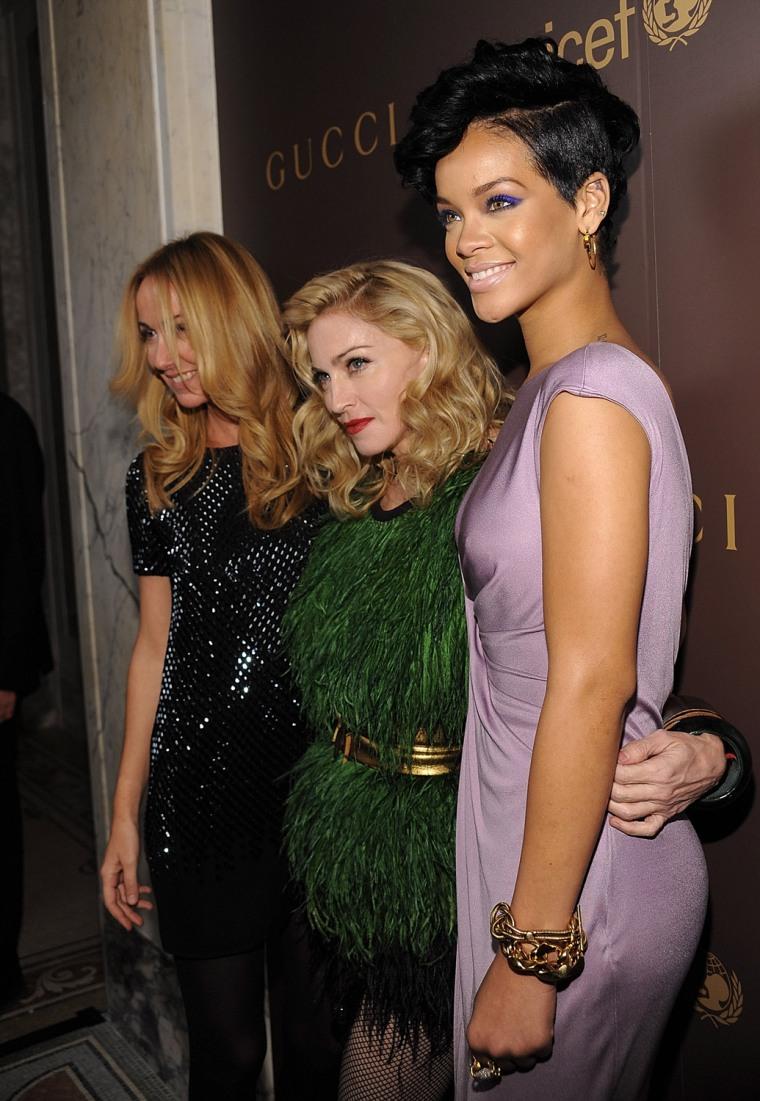 Image: Frida Giannini, Madonna, Rihanna