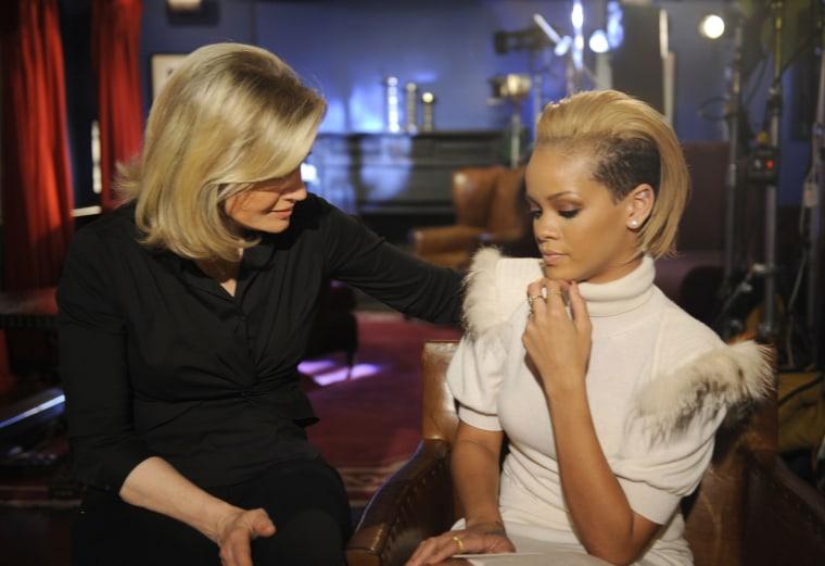 Image: Diane sawyer, Rihanna