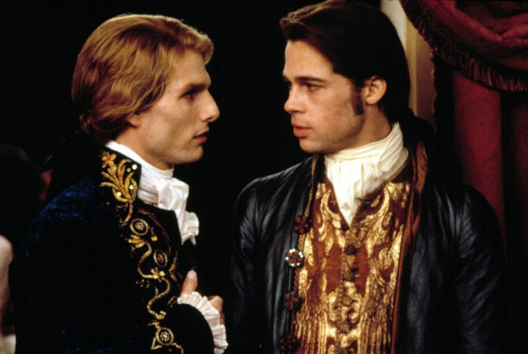 INTERVIEW WITH THE VAMPIRE, Tom Cruise, Brad Pitt, 1994, (c) Warner Brothers/courtesy Everett Collection