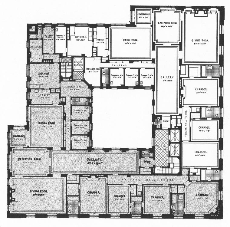 Floorplan for 907 Fifth Avenue in New York.