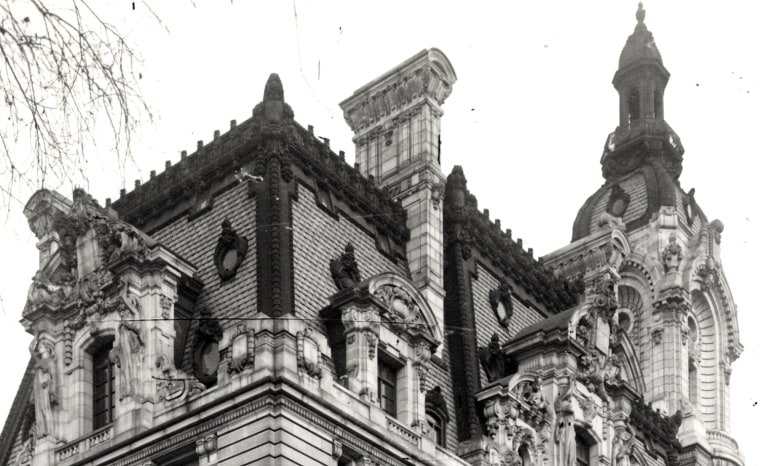 Detail of the William Andrews Clark mansion on Fifth Avenue in New York.