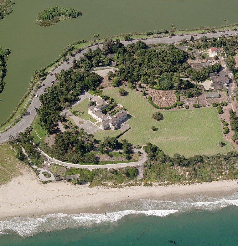 Bellosguardo, the Clark estate on the Pacific in Santa Barbara. Huguette Clark gave the salt pond on the inland side to the city in memory of her sister, Andreé. She also donated 135 acres to the Girl Scouts for Camp Andreé Clark in Briarcliff Manor, N.Y.
