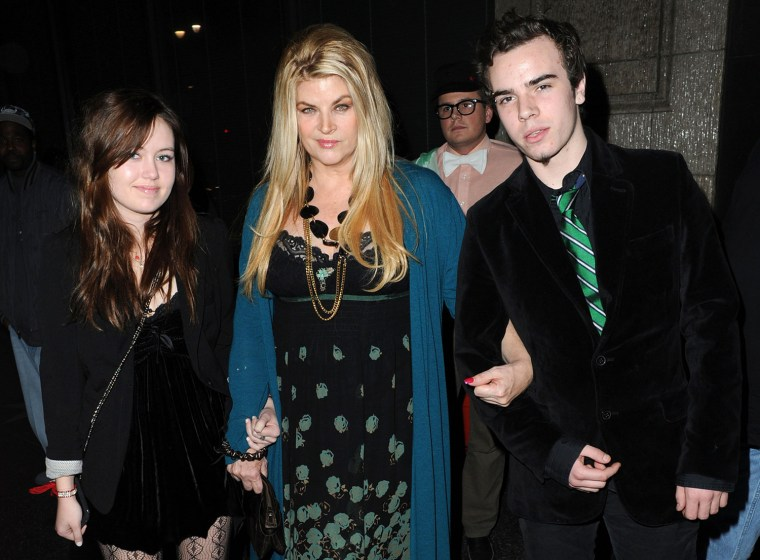 Kirstie Alley and her adopted children, Lillie Price and William True, dine out at Katsuya restaurant in Hollywood