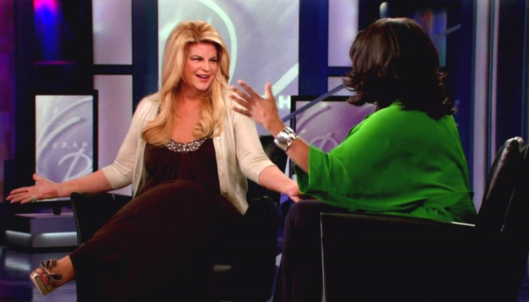 Kirstie Alley appeasr on ABC's 'Oprah Winfrey' Feb. 2010 to talk about her battle for weight loss. Alley talks about her new show 'Kirstie Alley's Big Life'. Alley admits she has a crush on Jamie Foxx and would love to have him as a booty call.