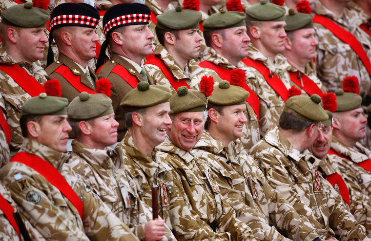 Image: Prince Charles Presents Campaign Medals To Members Of Black Watch