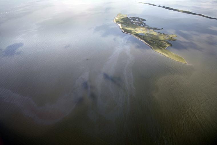 Image: Oil slick near Timbalier Bay, Louisiana