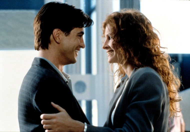 """'My Best Friend's Wedding' Always the sweet and approachable """"best friend,"""" Roberts starred in 1997's """"My Best Friend's Wedding,"""" with Dermot Mulroney. The comedy was a huge box office success."""