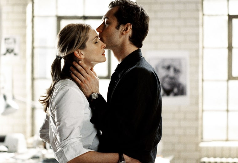 """'Closer' Roberts starred with Jude Law in 2004's """"Closer,"""" a drama about love and deception. Costars included Clive Owen and Natalie Portman. 2004 was a big year for the actress: She released two blockbuster films (""""Closer"""" and """"Ocean's 12""""), and she also became a mother."""