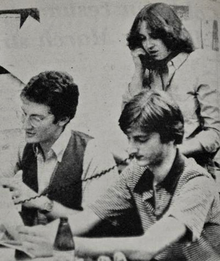 Solicitor General Elena Kagan '81 (standing) served as editorial chariman for The Daily Princestonian while at the University.