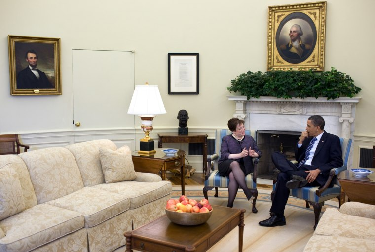 President Barack Obama meets with Solicitor General Elena Kagan in the Oval Office April 30, 2010. (Official White House Photo by Pete Souza)