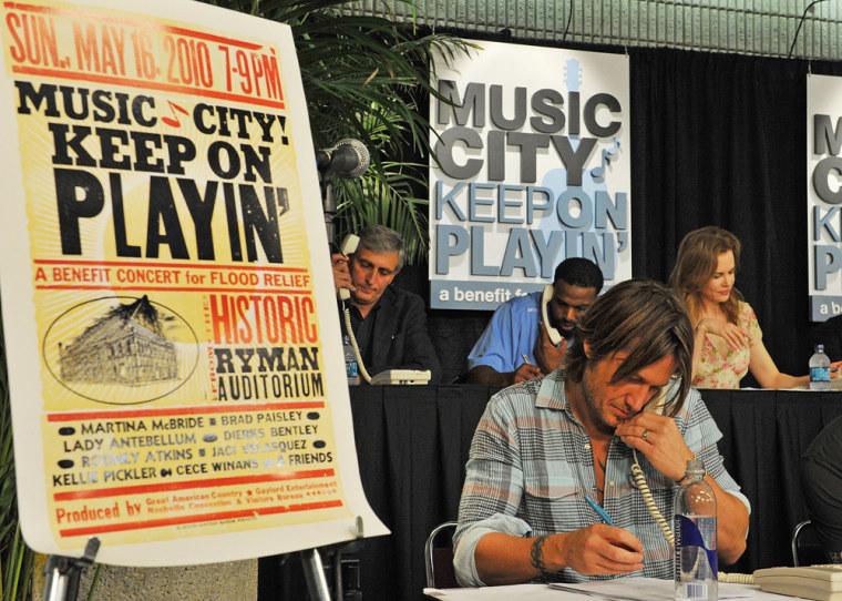"Image: \""Music City Keep On Playin'\"" Benefit Concert - Phone Bank"