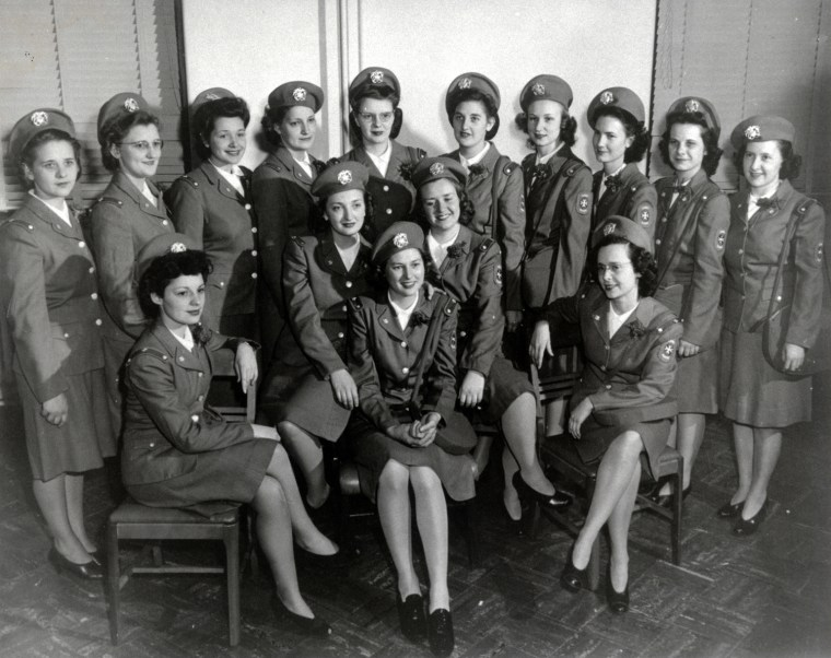 U.S. Public Health Service Cadet Nurse Corps nurses, Sioux Valley Hospital, Sioux Falls, S.D., 1943. Women In Military Service For America Memorial Foundation, Inc. (Maxine (Spear) Norlin Collection)