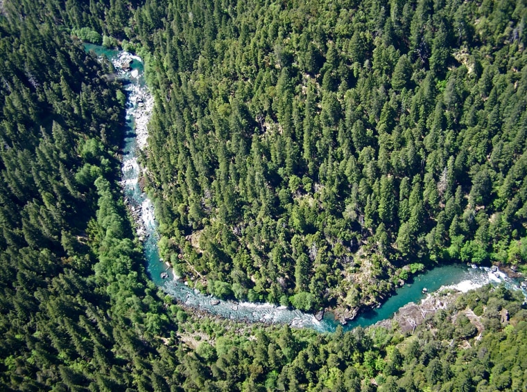 National Wild and Scenic Chetco River in the Kalmiopsis Wilderness  and one of the areas proposed for mining.