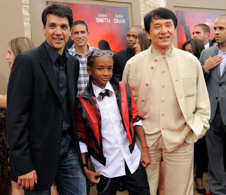 Image: Ralph Macchio, Jaden Smith, Jackie Chan