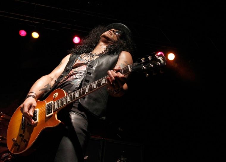Image: Guitarist Slash performs during his concert in Berlin