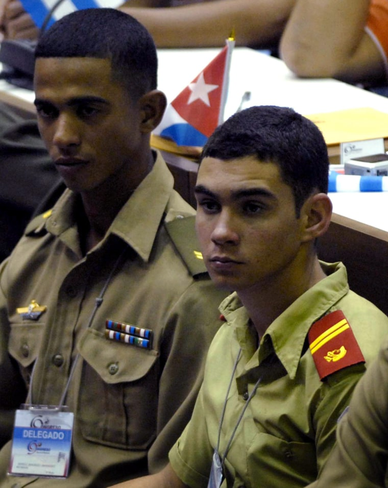 Image: ELIAN GONZALEZ AT THE IX CONGRESS OF THE COMMUNIST YOUTH UNION