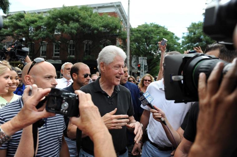 Image: Bill Clinton in Rhinebeck, NY