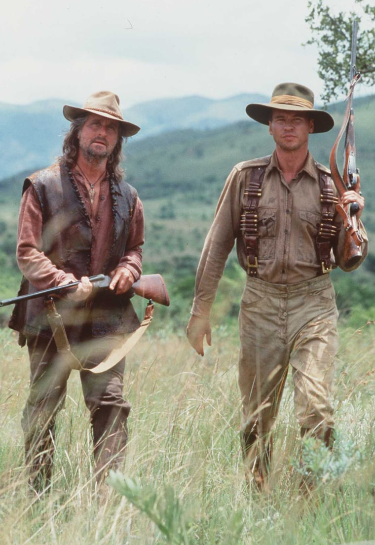 MICHAEL DOUGLAS AND VAL KILMAR STAR IN THE GHOST AND THE DARKNESS