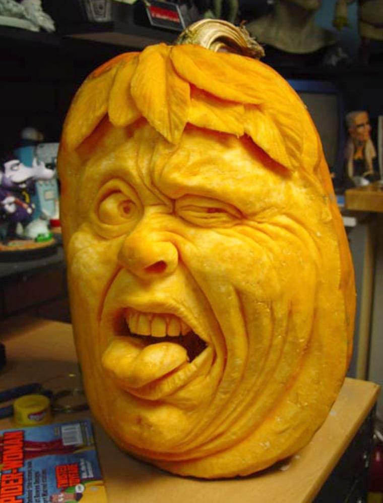 Ghoulishly grand carved pumpkins