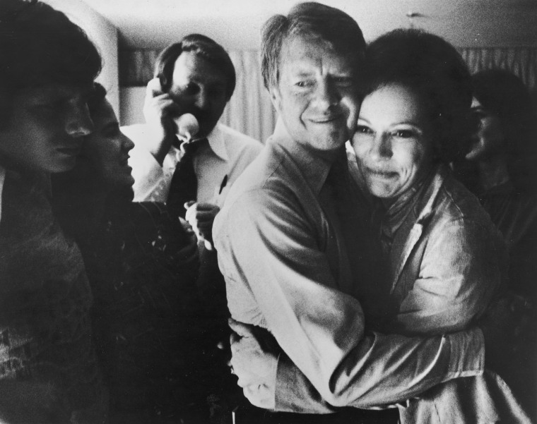 Image: Jimmy And Rosalynn Carter Embrace, 1976.