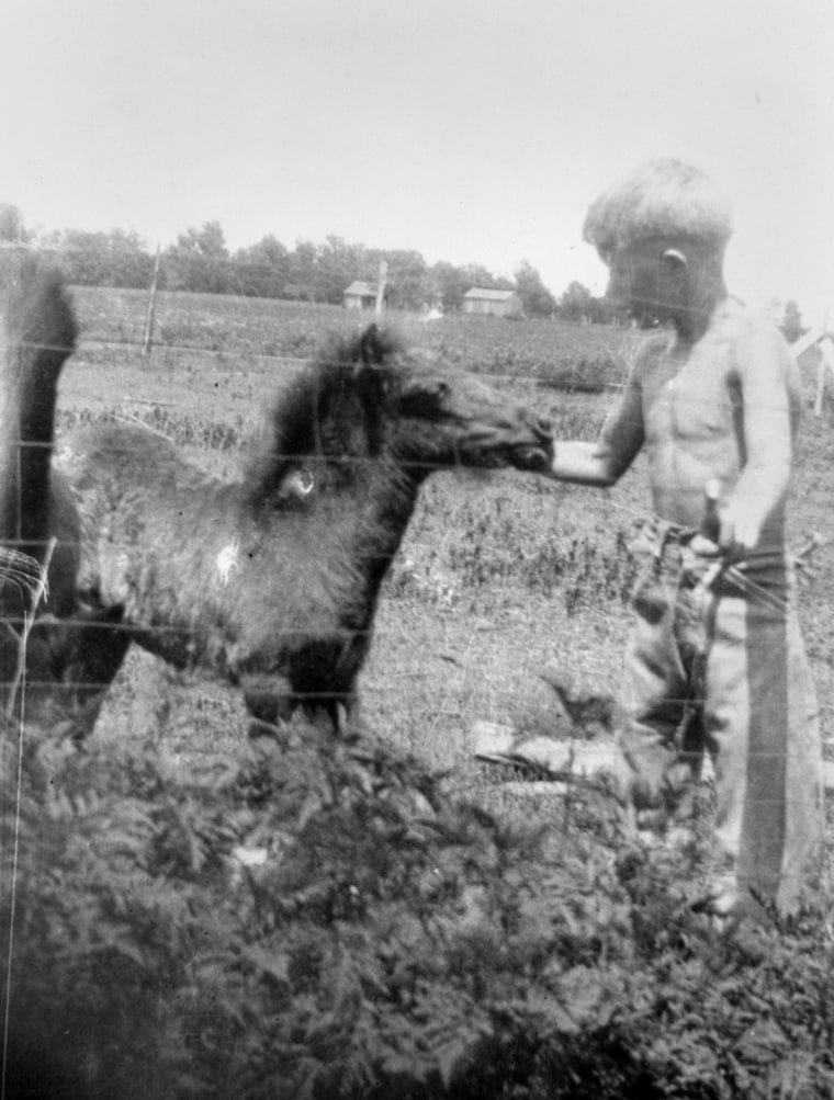 Jimmy Carter and his pony, Lady Lee, ca. 1932
